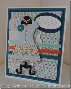 Dress Up Framelit~Guest Artist Carolyn Warren - Stampin Up card using Dress Up framelits