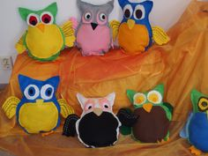 Pöllöjä ompelukoneella 3 lk Easy Sewing Projects, Owls, Little Ones, Arts And Crafts, Textiles, Disney Characters, Party, Handarbeit, Ideas