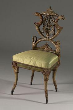 Michelangelo Pergolesi (italiano, activa ca. 1760-1801) Italia, a finales del siglo 18 tallado, policromado y madera dorada.