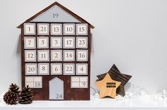 DIY wooden advent calendar - TUTORIAL