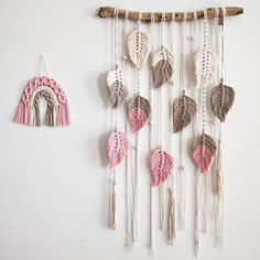 Material: cotton rope + wooden stick Size: S: L: Color: as shown Quantity: 1 pcs macrame wall hanging Macrame Wall Hanging Diy, Macrame Art, Macrame Projects, Headboard Decor, Yarn Crafts, Diy Crafts, Macrame Tutorial, Macrame Patterns, Arts And Crafts