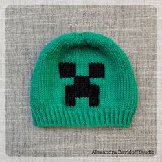 FREE Pattern for those Minecraft fans, Creeper beanie | Supply | Patterns | Kollabora