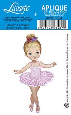 Litoarte Ballerina Birthday Parties, Ballerina Party, Little Ballerina, Ballerina Illustration, Cute Illustration, Baby Painting, Fabric Painting, Ballerina Barbie, Cute Kids Pics