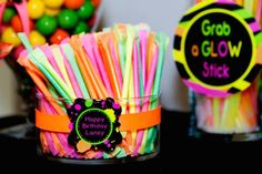 Neon 80's Skate themed birthday party via Kara's Party Ideas KarasPartyIdeas.com…