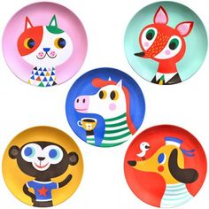 Melamine plates by Helen Dardik * www.the-pippa-and-ike-show.com