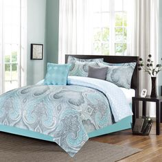 Fall River Mineral 5-Piece Comforter Queen