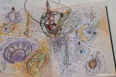 Akis Goumas sketchbook & jewellery. Photgraph by Eleni Roumpou