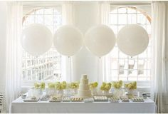 "XL JUMBO extra large 36"" (3 feet) WHITE Latex Balloons party wedding event NEW!"