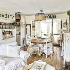 TGIF  and what a busy week it was. I've been trying to take pics at different angles lately. But that means, those hideaway corners may need to be cleaned! A great excuse to get it done  I consider myself style Farmhouse/Shabby. Am I correct or what do you think it is and what is yours?