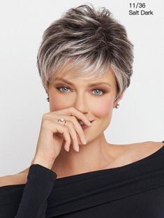 Shop a wide variety of monofilament wigs. These high quality wigs give the look of real hair growing from the scalp, for the most natural look possible. Browse our quality mono wigs today! Short Grey Hair, Short Hair With Layers, Short Hair Cuts For Women, Short Hairstyles For Women, Easy Hairstyles, Layered Hairstyles, Gray Hair, Summer Hairstyles, Black Hair