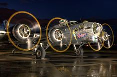 A night shot of the Flying Fortress with its engines running. photographed at SAIT Aero Centre B 17, Ww2 Aircraft, Military Aircraft, Ww2 Planes, Vintage Airplanes, Aircraft Pictures, Nose Art, War Machine, Air Force