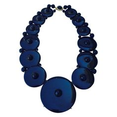 Important William de Lillo Bakelite Necklace 1972 | From a unique collection of vintage drop necklaces at https://www.1stdibs.com/jewelry/necklaces/drop-necklaces/
