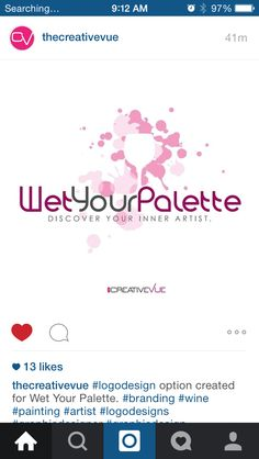 Wet your palette logo