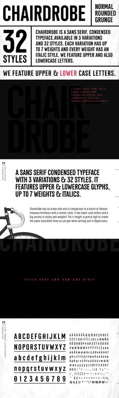 Chairdrobe - Chairdrobe is minimalistic typeface with a contemporary, urban style. It feels pure, raw and a...