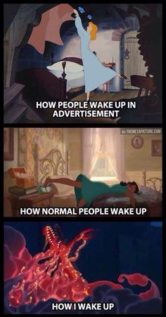 How I wake up