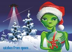 Promotion and links to ebooks and paperbacks by various authors regarding UFO and ET subject matter. Art Christmas Presents, Xmas Cards, Christmas Art, Christmas Projects, Christmas Decorations, Aliens And Ufos, Ancient Aliens, Alien Tattoo, Nature Vector