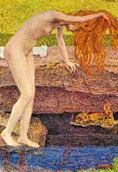 Giovanni Segantini The Vanity Detail Art Print Poster Poster - $8