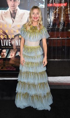 """Sienna Miller at the """"Live By Night"""" premiere"""