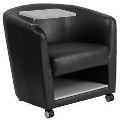 Tablet Arm Barrel Chair