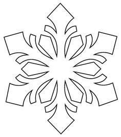 Fensterbilder zu Weihnachten selber machen - Techniken & Vorlagen couper pour et comme Snowflake Stencil, Snowflake Craft, Paper Snowflakes, Snowflake Designs, Snowflake Pattern, Frozen Snowflake, Felt Christmas, Christmas Ornaments, Origami Christmas
