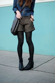 i want to wear shorts with tights this fall. ben says he thinks i can pull it off. thoughts?