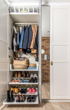 Rozplanowanie w rodzinnej garderobie