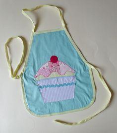 cupcake applique children's apron £10