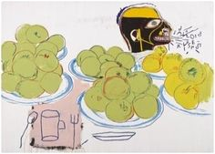 Basquiat and Warhol, Apples and Lemons, 1985