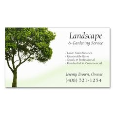 tree or lawn care business card - Landscaping Business Cards