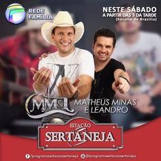 Matheus Minas e Leandro no Estação Sertaneja deste sábado ;)