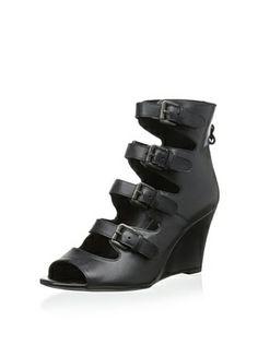 Luxury Rebel Women's Keller Wedge Sandal (Black)
