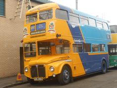AEC Routemaster (RM910) on the Open Day Glasgow Vintage Vehicle Trust, October 2015