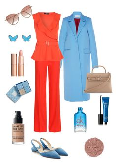 """coral"" by panigrazyna on Polyvore featuring Wanda Nylon, Altuzarra, Paul Andrew, Alexander Wang, Cutler and Gross, Van Cleef & Arpels, Calvin Klein, Vera Bradley, Eyeko and MAKE UP FOR EVER"