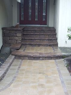 Paver walkway Stair to porch