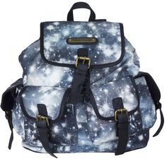 Designer Anna Smith Cosmos Starry night, Back to school Backpack - Black
