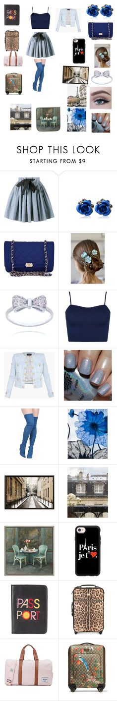 """""""Trip to Paris"""" by michaelagoldinger on Polyvore featuring Miu Miu, Chanel, WearAll, Balmain, Grandin Road, Pottery Barn, WALL, Green Leaf Art, Casetify and Lizzie Fortunato"""
