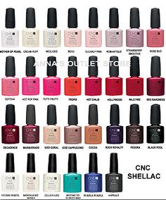 opi gel nail polish color chart cnd shellac uv nail polish romantique wildfire and creampuff ebay - Nuancier Gel Color Opi