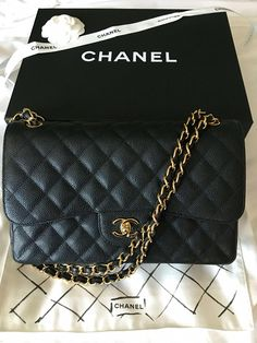 87680adaa5c19b My second Chanel Chanel classic flap Jumbo in caviar with Gold Hardware