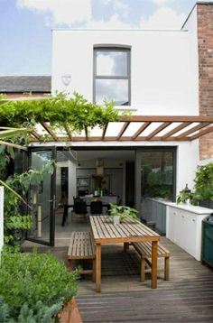 glas pergola markise toll Terrasse modern holz glass pergola awning great terrace modern wood Image Size: 600 x 910 Source Patio Roof, Pergola Patio, Pergola Plans, Pergola Kits, Cheap Pergola, Pergola Carport, Balcony Railing, Pergola Swing, Backyard Patio