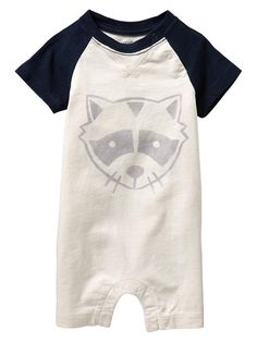 Gap // Graphic Raglan One Piece for Baby