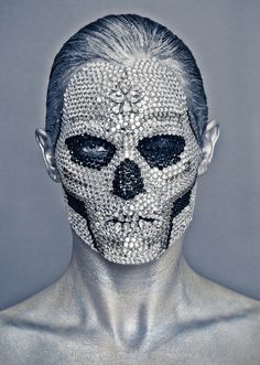 Skull Makeup. #skull artist #unknown.