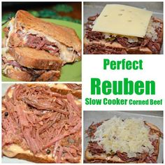 Crockpot corned beef Hash & Reuben Sandwiches perfect for St. Patricks Days perfect for St. Slow Cooker Corned Beef, Slow Cooker Huhn, Slow Cooker Freezer Meals, Corned Beef Hash, Corned Beef Recipes, Slow Cooker Chicken, Slow Cooker Recipes, Crockpot Recipes, Cooking Recipes