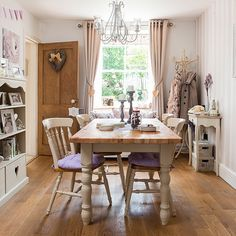Superieur Country Dining Room With Wood Floor Eyebrow Makeup Tips