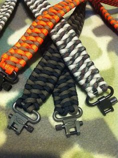 Rifle Gun Sling (paracord) handmaid (gun not included)Hunting slings. $30.00, via Etsy.