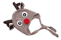 Crochet Christmas Baby Boy Reindeer Hat Baby by KThandmadeDesign
