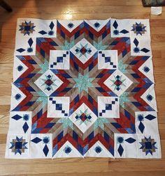 Star Quilt Patterns, Pattern Blocks, Quilting Ideas, Quilting Projects, Lone Star Quilt, Star Quilts, Quilt Blocks, Bright Quilts, Medallion Quilt