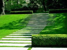 Wide Landscape Walkway Walkway and Path David Wilson Garden Design Austin, TX