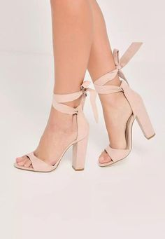 8af1dfef61 Nude Curved Vamp Block Heeled Sandals - Missguided. nude heels are an  essential and these curved vamp block heeled sandals are our current  obsession!