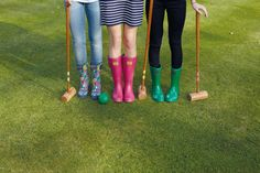 Get ready for festival season with Joules wellies / rain boots.