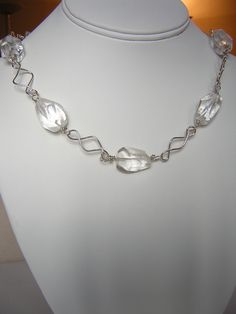 Natural Crystal Quartz Nugget Necklace in by RLGemstoneElegance, $149.99  25% Off with Coupon Code RLGems25